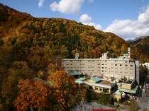 紅葉の季節の定山渓