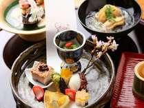 一品一品丁寧に仕立てた積丹御膳の前菜。彩りも鮮やかです(写真はイメージです)。