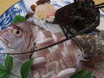 【しおさい お夕食はお部屋食で】地魚姿造りと伊勢海老+海を一望できる貸切露天風呂