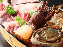 【じゃらん限定】《海の幸よくばりプラン》金目鯛姿煮と地魚大漁舟盛&伊勢海老&あわび