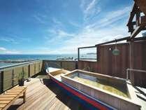 房総半島と太平洋を一望できる、貸切露天風呂「ふね」