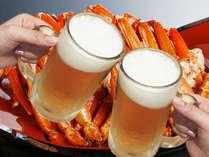 【とげずわい蟹食べ放題】天ぷら&蕎麦も!ミニ会席と楽しむハーフバイキング《生ビール1杯付》