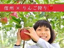 【信州×りんご狩り】季節の味覚狩り☆りんご1個もぎとり☆30分食べ放題《素泊まり》