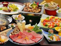 [日本料理]信州牛のしゃぶしゃぶや、はくばの豚が味わえます♪(イメージ)