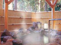 露天風呂付き特別室『宮の間』のお風呂も源泉かけ流し