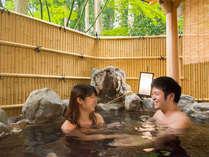 露天風呂付き特別室では、いつでもご入浴が楽しめます