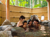 露天風呂付き特別室「宮の間」では、いつでもご入浴が楽しめます