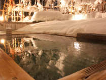冬限定の雪見露天風呂