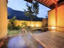 「【露天風呂付き客室】和室8畳」の露天風呂