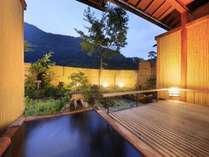 【露天風呂付き客室】和室8畳 露天風呂一例