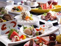 【旬味の宴料理イメージ】鮑料理や7種盛りの豪華お造り。ワンランクアップした和会席