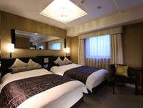 【デラックスツイン】広さ20㎡/ベッド幅120cm×2台