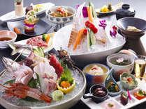 春の創作加賀料理『華』新鮮な旬魚のお造里盛りと山代バーニャカウダが魅力