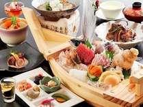 豪華舟盛会席で、北陸日本海の恵みを味わいつくす。