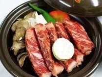 【上州牛のステーキ満福プラン】通常料理に特選お肉を一品追加・貸切温泉で至福の一日!個室でお食事
