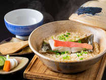 金目鯛の土鍋仕立てご飯は、花さとでしか味わえない一品です
