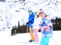 **スキーイメージ/タングラムスキー場は託児所やキッズ&ビギナーパークも充実!