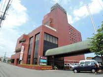 *【外観】花巻の中心にあるホテル花城は、観光・ビジネス拠点にピッタリ!