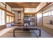 「紫陽花」の書院造の居室 大人数の時は寝室になります。床暖房完備で冬でも暖か