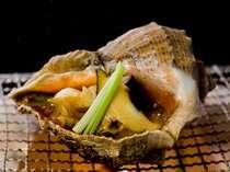ニシ貝の壷焼(一例)別注料理1人前よりご予約可能