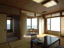 【本館二間】お部屋は全室三河湾を望むオーシャンビューです。