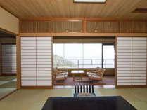 【東館二間】お部屋は全室三河湾を望むオーシャンビューです。