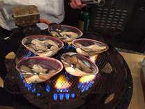 【夕食バイキング】大好評「あつあつライブキッチン」大アサリの磯焼き