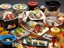 こちらのプラン限定の『あじさい会席』をご用意♪ご当地の食材を使ったスペシャル料理もご用意します!