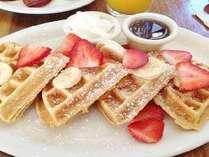 【自称・西浦一贅沢な朝食をご用意】ご用意出来立てワッフルやオムレツも食べ放題♪