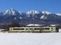 *[周辺]初冬の小海線と八ヶ岳(一例)