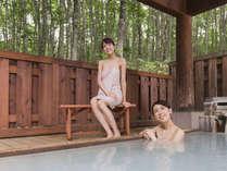 ぶなの森に囲まれた露天風呂でリフレッシュ!してみてはいかがですか?