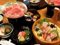 選択料理一例「和会席」+ 2名様毎一桶「刺身盛り」付(※4/28-5/5、8/10-15は除外)
