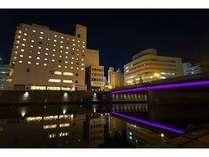 夜の鹿児島東急REIホテル