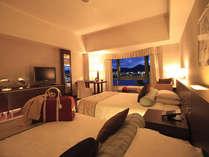 最上階 ロイヤルフロア ツイン】二人で広々過ごせる45�uのスタイリッシュな客室