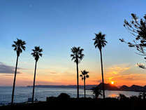 全室オーシャンビュー♪ホテル前には眺望と心落ち着く波音。ホテル前の歩道からは朝日・夕日の絶景も。