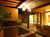 6畳+8畳+応接+坪庭付きの露天風呂付和室
