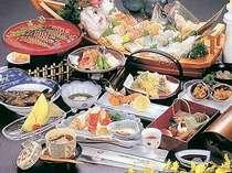 新鮮な海の幸が自慢のお料理。(写真は一例です)