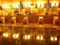 【浴場 女湯】足を伸ばせる浴場は、24時間入浴可能