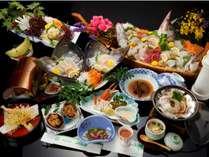 【お料理一例 伊勢海老付き龍宮城コース】季節や仕入れにより内容が変更になることもございます。