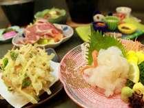 『富山湾の宝石』白えびのお刺身&かき揚げ会席