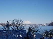 【冬】朝レストラン「ステラマリス」から見える雪景色