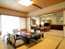 洞爺湖万世閣、最上級のお部屋の1階です。