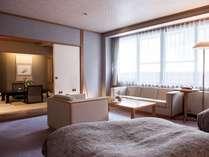 【限定1室・和洋室スイート「桔梗(ききょう」】和と洋を贅沢に融合したお部屋