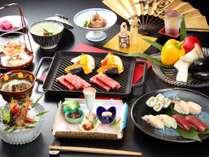 【山の季「お祝い会席」】ご宴会やお祝いごとなどにご利用いただけるよう創作した贅沢な会席料理