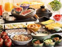 和食がメインの朝食バイキング(一例)