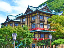 全部で5つの宿泊棟から成る富士屋ホテル。中でも「花御殿」ホテルのシンボルとして愛され続けています。