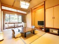 【C】源泉檜風呂・トイレ付標準和室(6畳タイプ) 客室一例
