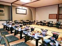 【宴会場/個室】グループ旅行などにお使いくださいませ。個人のお客様のお食事場所にもなります。