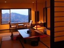 【展望客室】(客室一例)/畳の香りがほのかに薫るお部屋で団欒のひと時をお過ごし下さい