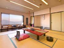 【展望客室/一例】畳の香りがほのかに薫るお部屋で団欒のひと時をお過ごし下さい。